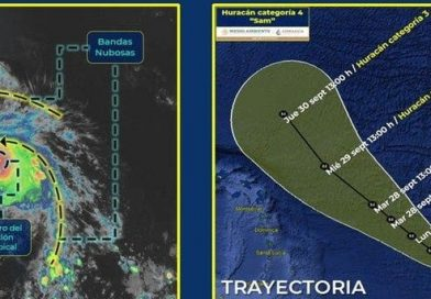 «Sam» se convirtió en huracán categoría 4, con vientos 220 km/h